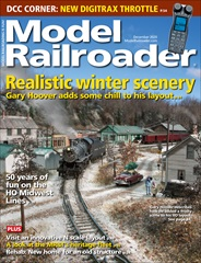 December 2020 cover of Model Railroader magazine