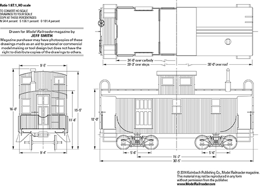 Copper Range Rr Caboose Drawings