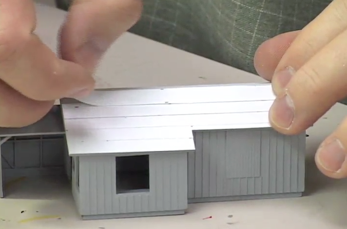 ho track wiring video how to model a roof with paper  video how to model a roof with paper