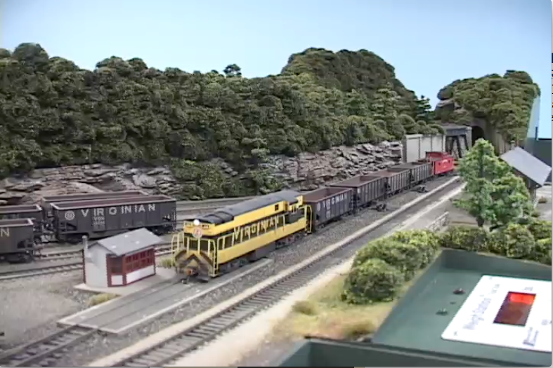 model railroad video  building the ho scale virginian ry